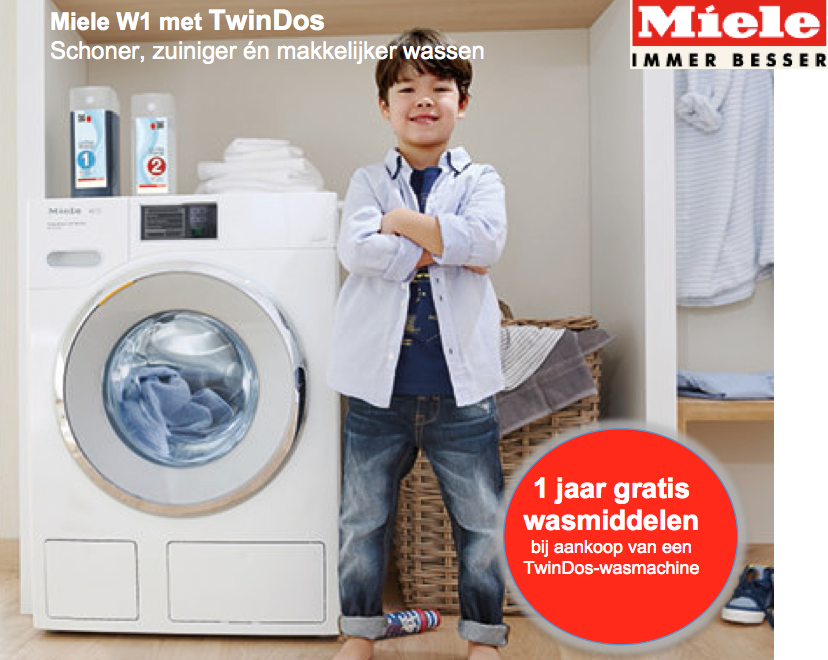 Miele W1 TwinDos 010316-310816 - gratis wasproducten